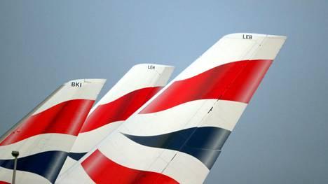 British Airwaysin koneita Heathrow'n lentokentällä helmikuussa.