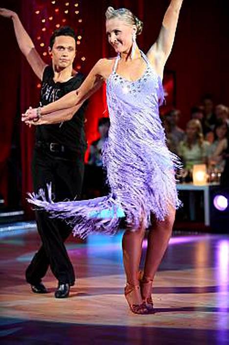 Vanessa Kurri kilpaili tanssikisassa viime vuonna.