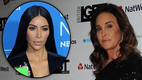 Kim Kardashian ja Caitlyn Jenner arkistokuvissa.