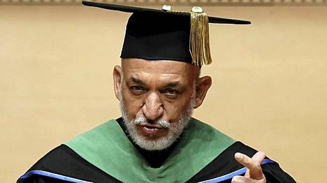 Presidentti Hamid Karzai otti maanantaina vastaan kunniatohtorin arvonimen tokiolaisessa yliopistossa Japanissa.