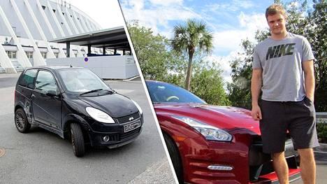 Mopoauto on historiaa. Aleksander Barkov ajaa nyt Nissan GT-R:llä.