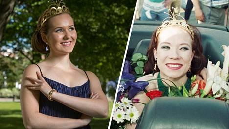Kouvolalainen Aino Niemi, 18, kruunattiin tangokuningattareksi torstaina Seinäjoella. Tiina Räsänen sai kruunun heinäkuussa 1994.