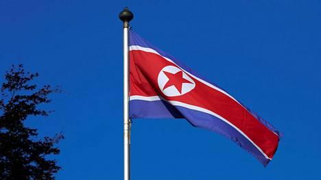 Pohjois-Korean lippu.