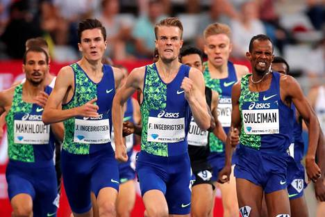 Kaksi Ingebrigtseniä, Jakob ja Filip kisasivat elokuussa Pariisin Timanttiliigan 1500 metrillä.