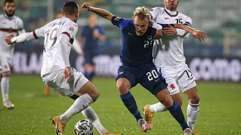 Joel Pohjanpalo loukkaantui viime sunnuntaina Bulgariaa vastaan pelatussa ottelussa.