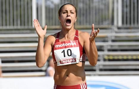 Maria Huntington voitti heinäkuussa Kalevan kisojen seitsenottelun tuloksella 5858.