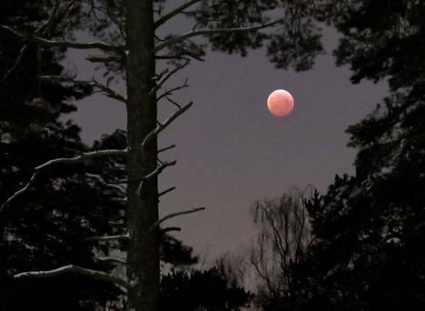 Siellä se kuunpimennys näkyy.