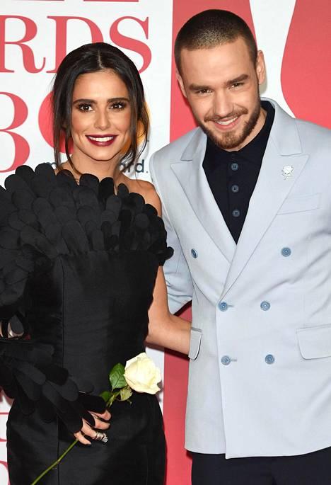 Cheryl Cole kuvattuna ex-rakkaansa Liam Paynen kanssa helmikuussa. Parin Bear-poika syntyi maaliskuussa 2017.