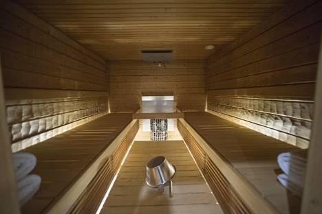 Mannerheim-sviitissä on oma, yksityinen sauna.