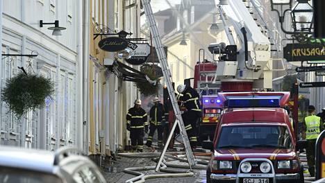 Tulipalo syttyi Eksjön keskustassa sunnuntaina.