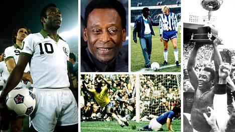 Perjantaina 80 vuotta täyttävän Pelén uraan mahtui paljon ikimuistoisia hetkiä.
