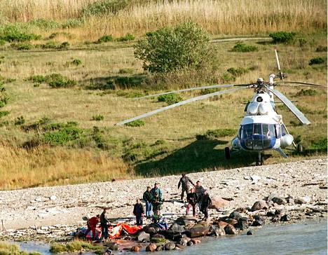 Pelastuslauttoja Viron rannikolla.