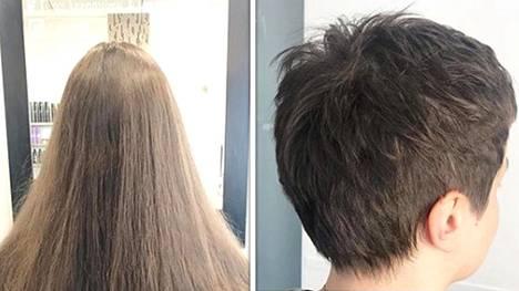 Lauran hiukset kokivat ison mutta tyylikkään muutoksen. Kutrit eivät jääneet kampaamon lattialle, vaan ne lähtivät hyväntekeväisyyteen.