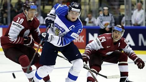 Suomi kohtasi Latvian vuoden 2018 MM-kisoissa, jotka pelattiin Tanskssa.