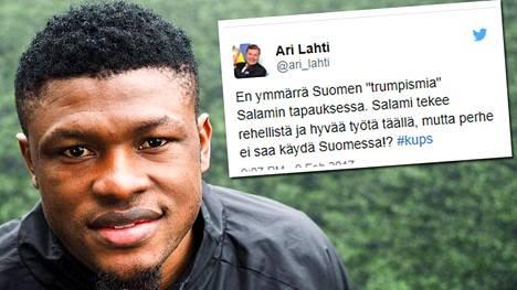 Gbolahan Salamin perhe ei pääse vierailemaan Suomeen. KuPSin pääomistaja Ari Lahti on asiasta suunniltaan.
