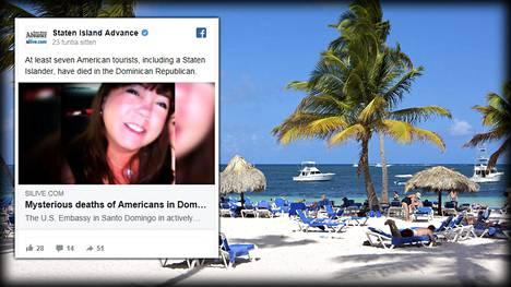 53-vuotias Leyla Cox on seitsemäs Dominikaanisessa tasavallassa äkillisesti menehtynyt yhdysvaltalaisturisti. Arkistokuvassa oikealla rantanäkymä Punta Canassa.