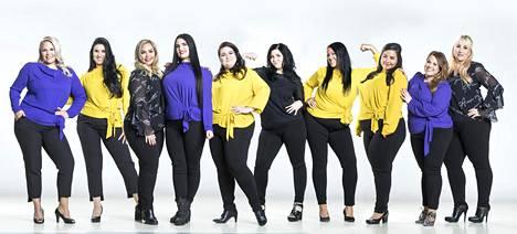 Niina Luukkonen, Anu Mod, Riina Koskinen, Miina Varjonen, Laura Heinovaara, Eveliina Heiskanen, Laura Välimaa, Anna Sivén, Tuulia Kovanen ja Lea Mansikkaviita kisaavat Miss Plus Size -finaalissa.