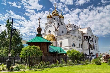 Tsaariperheen teloituspaikan Ipatjevin talon paikalle Jekaterinburgiin on rakennettu kirkko.