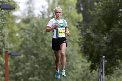 Alisa Vainio eteni Jyväskylässä kevyellä askeleella.