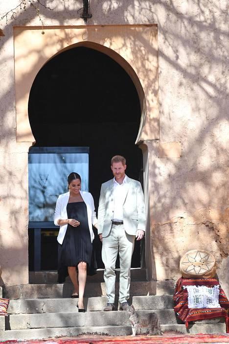 Herttuapari näytti viihtyvän kolme päivää kestäneellä vierailullaan Marokkoon.