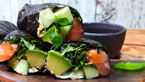 Riisitön sushi on vähän kuin uudella tavalla syötävä salaatti.