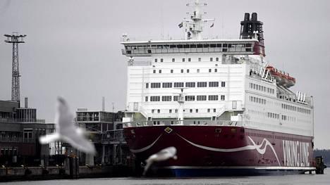 Viking Linen laiva Mariella Helsingin Katajanokalla 25. marraskuuta 2019.