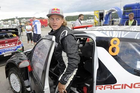 Kimi Räikkönen Jyväskylän MM-rallissa 2011.