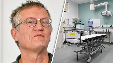 Ruotsin valtionepidemiologin Anders Tegnellin mukaan täydellinen laumasuoja ilman rokotusta on myytti. Oikealla Danderydin sairaala lähellä Tukholmaa.
