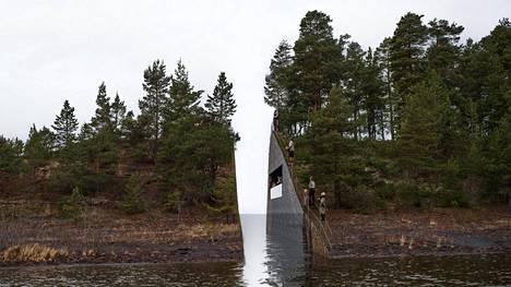 Ruotsalaistaiteilija Jonas Dahlbergin suunnittelema muistomerkki olisi tullut pienelle Sörbråtenin niemelle Utöyan saaren välittömään läheisyyteen. Se olisi katkaissut niemen kärjen kokonaan.