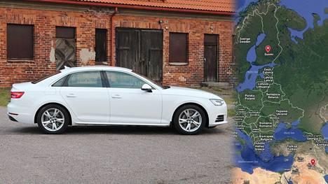 29 000 euron arvoinen Audi A4-henkilöauto päätyi sen hankkineen miehen mukaan Irakin Kirkukiin. Kuvan auto ei liity juttuun.