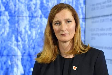 Metsäteollisuusyritys Stora Enson toimitusjohtaja Annica Bresky arkistokuvassa.