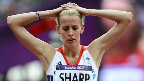 Ison-Britannian Lynsey Sharp Lontoon olympialaisissa 2012.
