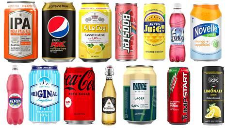 Alkoholittomien virvokkeiden suosio on kasvanut. Kysyntä näkyy myös uutuustuotteiden valikoimassa.