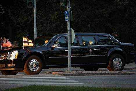 Donald Trumpin The Beast -Cadillac.
