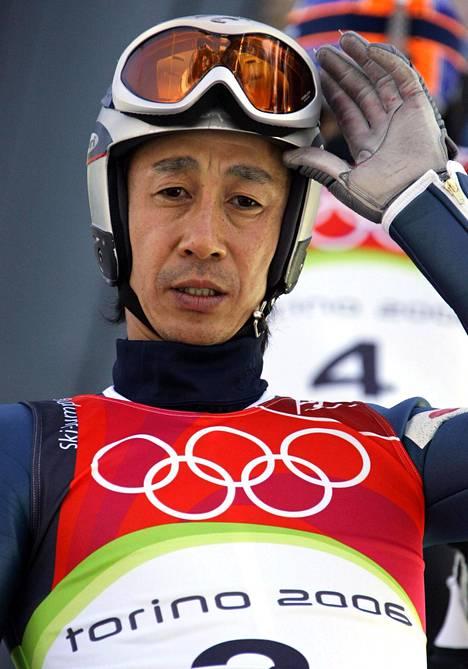 Masahiko Harada oli mukana Japanin olympiajoukkueessa vielä 37-vuotiaana Torinossa 2006.