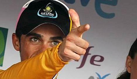 Alberto Contador on tähtää kohti Vueltan voittoa.