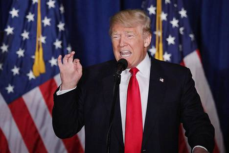 Donald Trump piti kampanjansa yhdeksi kokokohdaksi mainitun puheen Washingtonissa keskiviikkona.