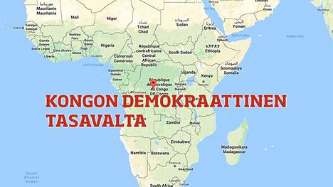 Kongon demokraattinen tasavalta sijaitsee Keski-Afrikassa.