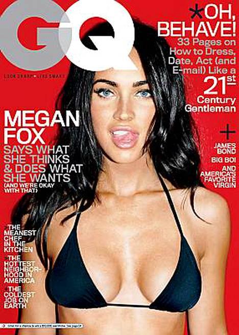Megan Fox poseerasi bikineissä GQ-lehden kannessa.