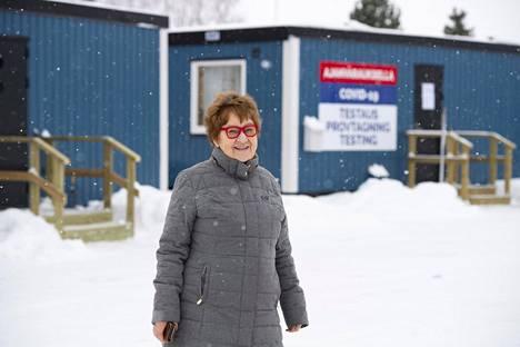 Ruotsalainen Lilja Maria Hjort kävi koronatestissä Torniossa.
