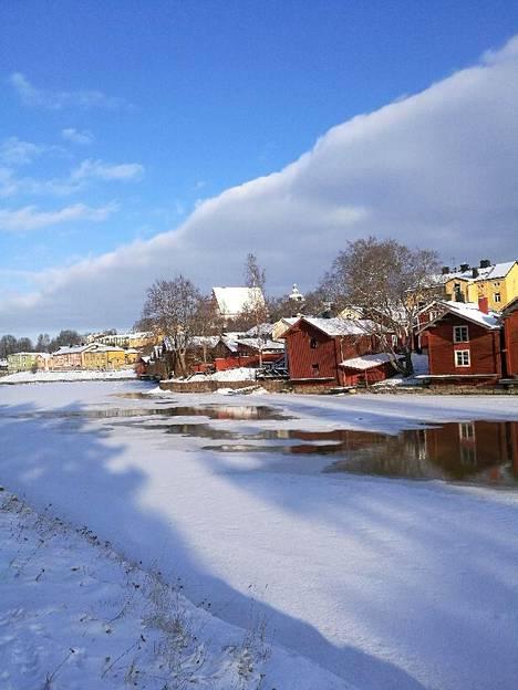 Kaunis talvipäivä Porvoossa.
