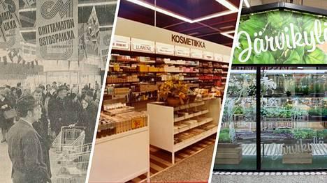Viiden vuosikymmenen aikana Citymarkettien ilme on kokenut melkoisia muutoksia.