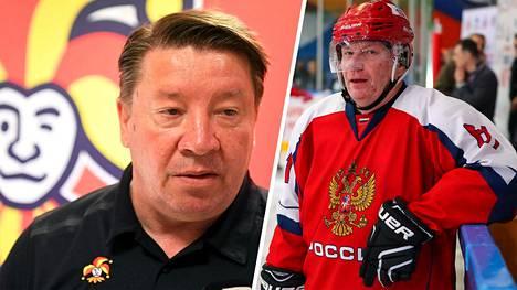 Jari Kurri (vas.) ja Vladimir Potanin.