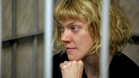 Sini Saarela oikeudenkäynnissään Murmanskissa.