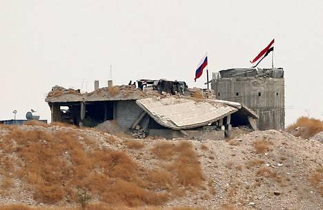 Syyrian ja Venäjän liput liehuivat keskiviikkona rinnakkain Zor Magarissa.