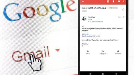 Gmail osaa nyt luoda sähköpostien sisällöistä klikattavia linkkejä.