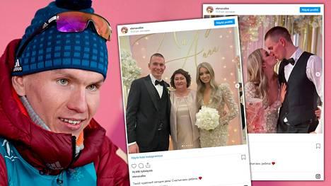 Jelena Välbe julkaisi kuvia Aleksandr Bolshunovin ja Anna Zherebjatjevan häistä.