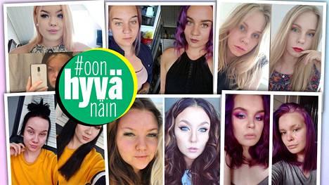 13 nuorta naista paljastaa kuvansa ennen ja jälkeen meikkaamisen.