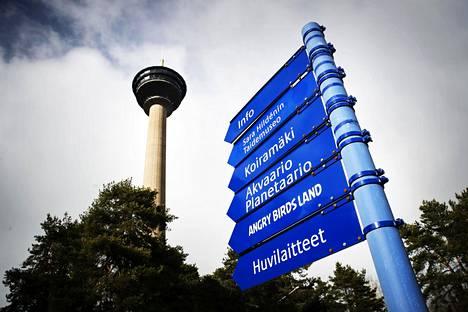 Särkänniemen maamerkki on huvipuistoalueella sijaitseva näköalatorni Näsinneula, jossa palvelee ravintola.