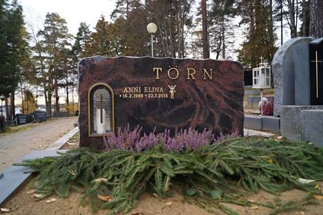 Anni Törn sai viimeisen leposijansa Savonlinnan Talvisalon hautausmaalta sankarihautojen lähistöltä.